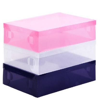 红兔子 星空夏日 透明水晶塑料鞋盒短靴盒 粉色款2只