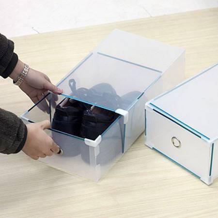 红兔子星空夏日 金属包边塑料抽屉鞋盒男鞋盒 颜色随机