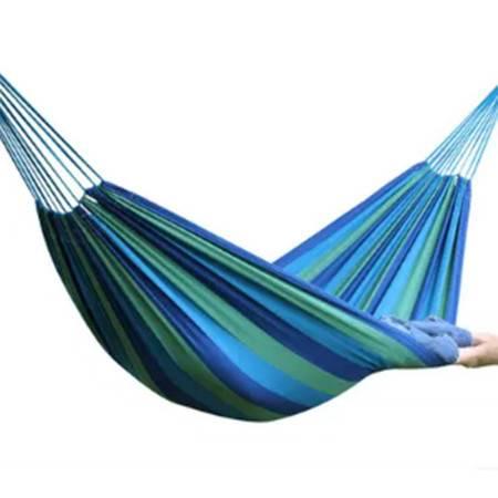 单人加厚帆布彩色吊床 户外吊床 蓝色