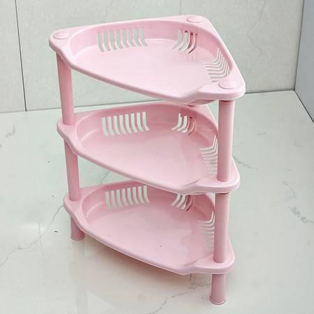 红兔子 T三角形浴室置物架 塑料浴室收纳架 卫生间置物架厨房储物架 728g 粉色