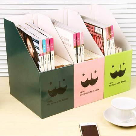 红兔子 (藏青)畸良韩国DIY胡子叔叔 桌面收纳盒桌面整理盒 大号文件收纳盒