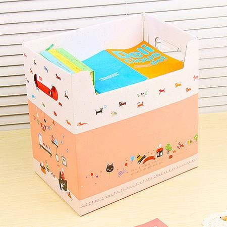 后兔子 (小熊)大容量纸质收纳箱 整理箱 储物箱