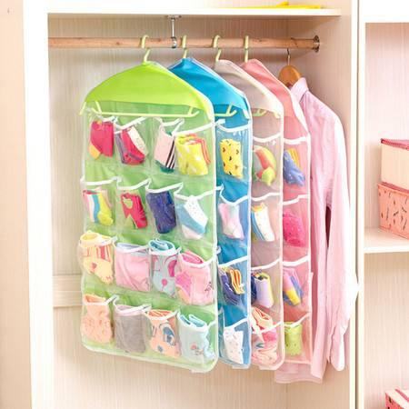 红兔子 牛津布衣柜门后墙面(16格)多功能透明储物挂袋收纳袋 米色