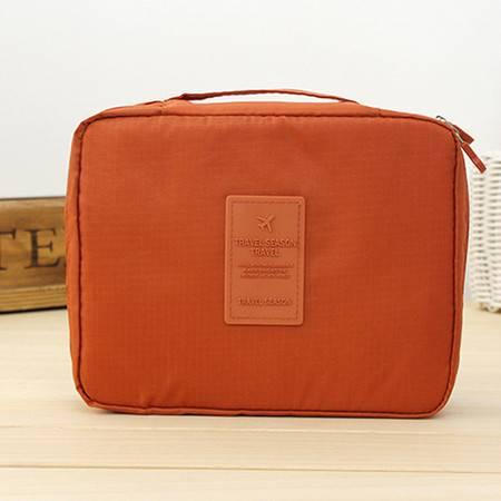 红兔子 (橙色)韩版方形旅行多功能内衣收纳包 旅行包 便携洗漱包