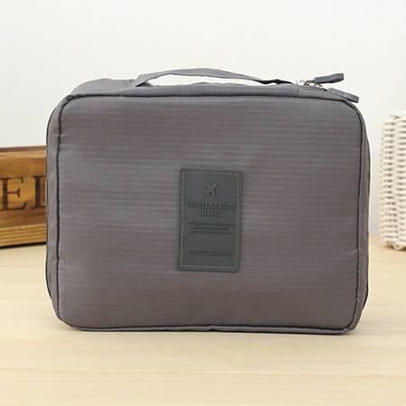 普润 (灰色)韩版方形旅行多功能内衣收纳包 旅行包 便携洗漱包