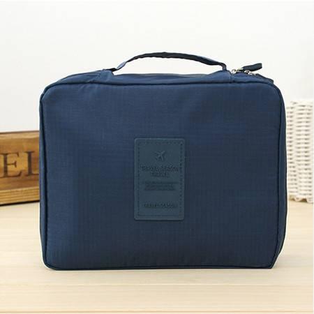 普润 (深蓝)韩版方形旅行多功能内衣收纳包 旅行包 便携洗漱包