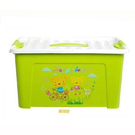 红兔子 大号多用途手提收纳整理箱 化妆箱 美容工具箱收纳盒子 绿色(KX619-3)