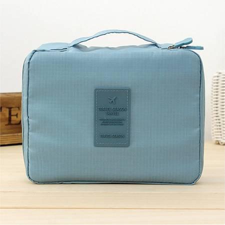 普润 (蓝色)韩版方形旅行多功能内衣收纳包 旅行包 便携洗漱包
