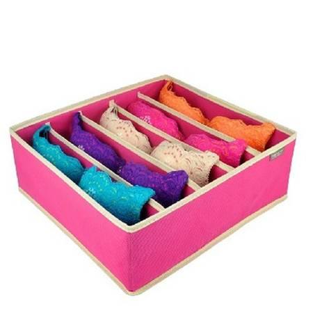 红兔子加厚型有盖/无盖文胸收纳盒加高5格内衣收纳盒