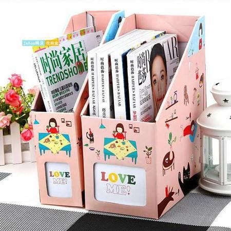 红兔子文件盒 桌面收纳盒桌面整理盒 (大号小女孩)