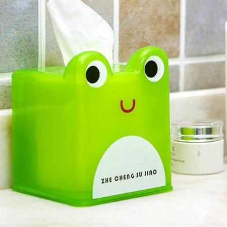 红兔子 可爱卡通动物纸巾盒 卷纸筒收纳盒 车载抽纸盒