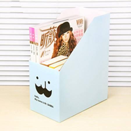 红兔子 韩国DIY胡子叔叔 桌面收纳盒桌面整理盒文件收纳盒(天蓝)