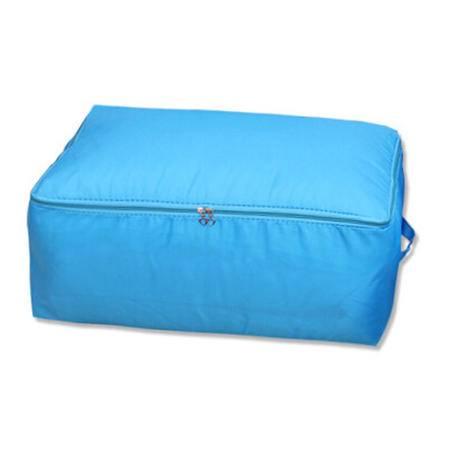 红兔子 炫彩系列牛津布被子收纳袋棉被整理袋软收纳箱盒60*50*28(蓝色)