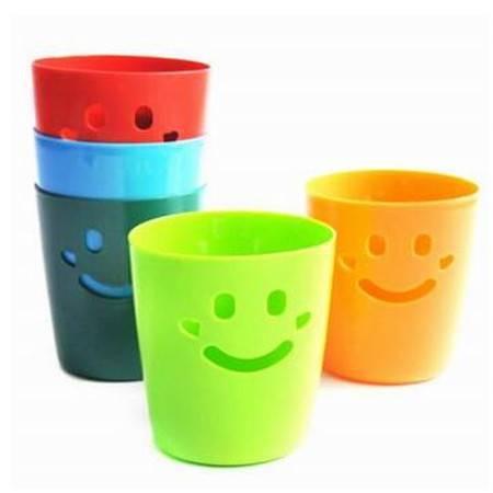 红兔子 笑脸彩色心情桌面收纳桶/迷你杂物桶