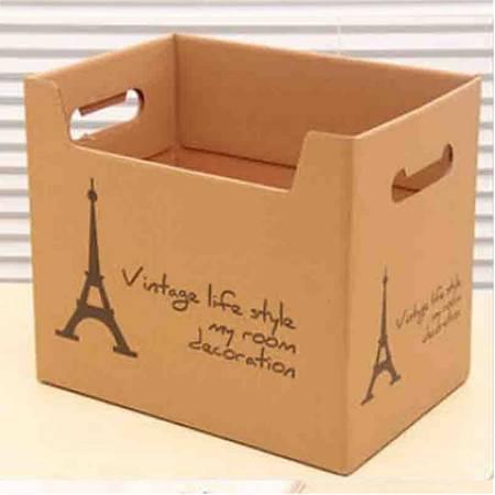 红兔子 大容量纸质收纳箱玩具衣服储物箱有盖搬家纸箱宿舍整理箱整理盒杂物盒收
