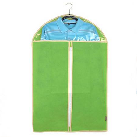 红兔子 加厚西服罩大衣防尘罩衣物收纳防尘袋衣罩防尘套 无纺布 60*100cm 绿色