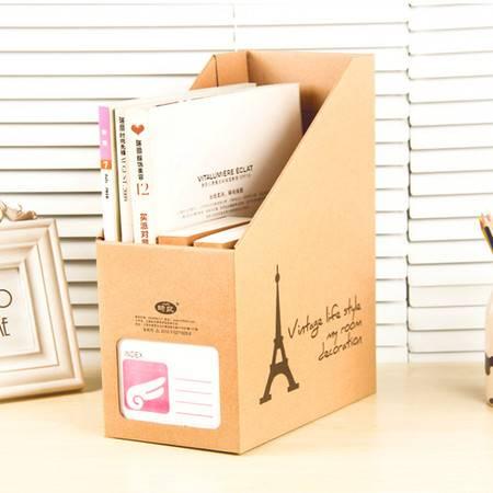 红兔子 加厚加固牛皮纸桌面收纳盒杂志收纳盒DIY桌面收纳盒(铁塔)