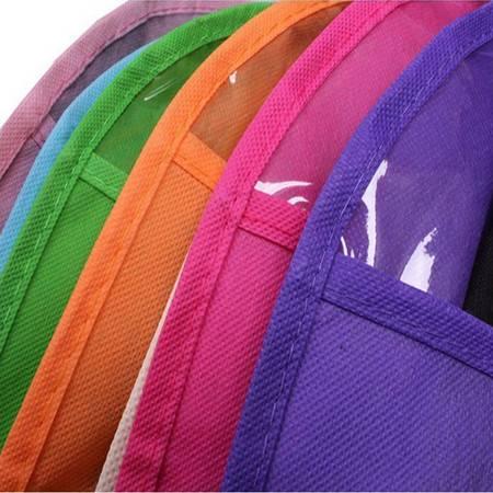 红兔子 环保西装防尘罩无纺布挂袋 透明西服防尘袋大衣罩收纳袋大号60*128cm