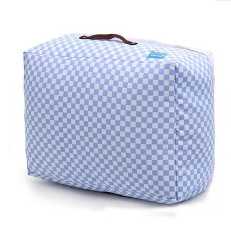 红兔子 格子棉被收纳袋 收纳箱 收纳盒 蓝白格子