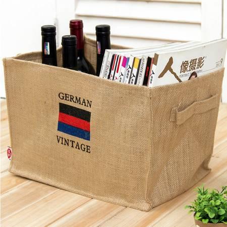 红兔子  棉麻杂志收纳盒 麻布收纳袋 整理箱 整理筐