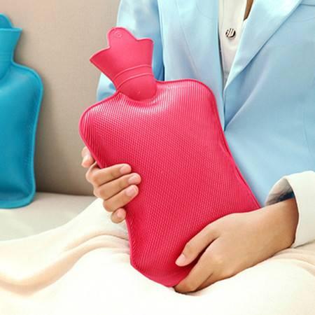红兔子怀旧充水热水袋 冲水热水袋 大号热水袋 加厚橡胶注水暖水袋 大号颜色随机