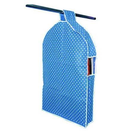红兔子 甜美点点立体衣物收纳防尘罩 蓝色小号