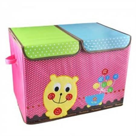 红兔子  刺绣卡通收纳箱 大号双盖储物整理箱 超精致的收纳箱 颜色随机
