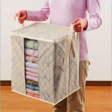 红兔子 竹炭收纳--可视棉被衣物收纳袋40*38*30(小号)