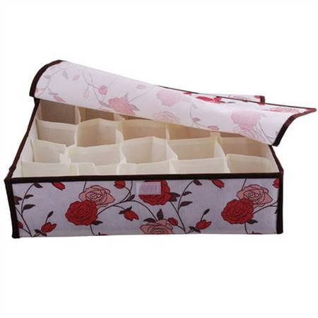红兔子 20格玫瑰花软盖收纳盒