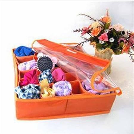 红兔子 收纳竹纤维带透明盖30格内衣收纳盒