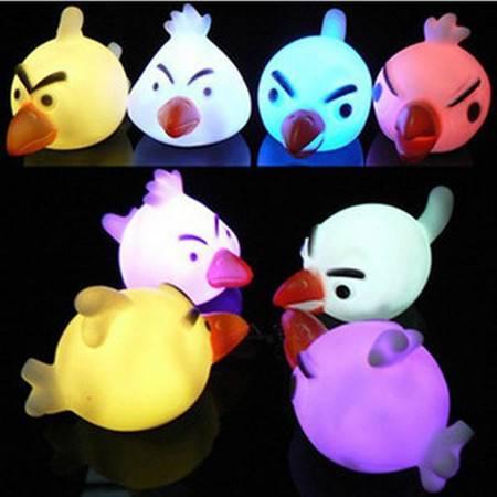 红兔子 愤怒的小鸟七彩小夜灯 装饰灯 男女朋友 情侣礼物 LED灯发光玩具