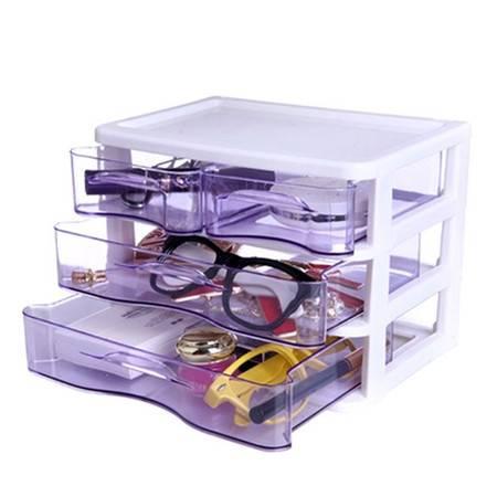 红兔子 三层四抽屉收纳盒/整理盒/化妆盒(KX617)