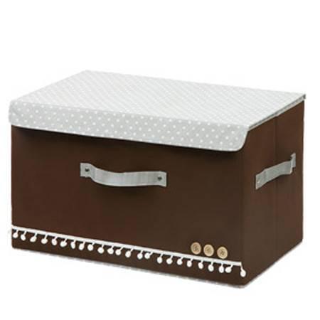 红兔子 小号扣扣多功能折叠收纳箱/整理箱 咖啡色