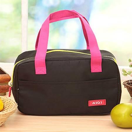 红兔子 手提包带午餐便当包 加厚保温饭盒袋 时尚保鲜包小拎包奶瓶包 黑色