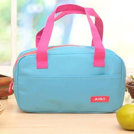红兔子 手提包带午餐便当包 加厚保温饭盒袋 时尚保鲜包小拎包奶瓶包 天蓝色