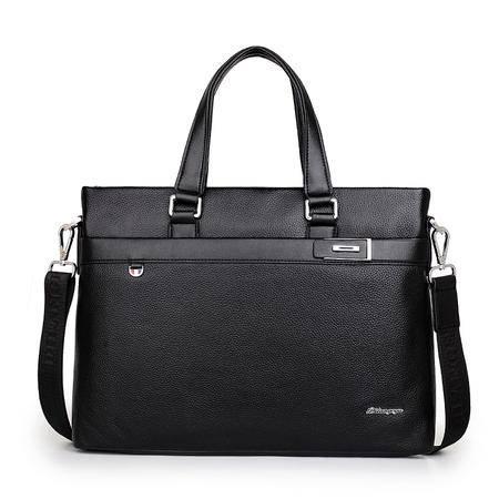 商务男包真皮男士包包横款手提包单肩包男公文包牛皮包电脑包背包7702-3