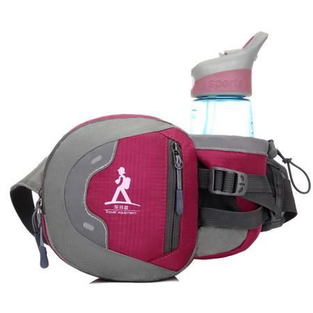跑步水壶包男士腰包运动户外骑行腰包手机包多功能防水挂包斜挎包