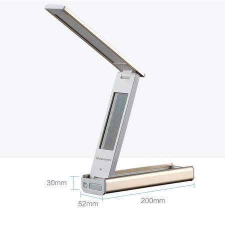 纽曼T104  LED护眼台灯USB充电土豪金移动电源户外手电筒日历闹钟折叠LED台灯