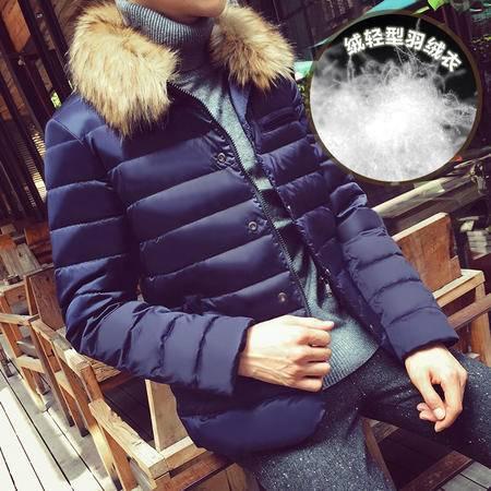 冬装新款男式羽绒服潮保暖毛领韩版修身外套加厚保暖男D00105
