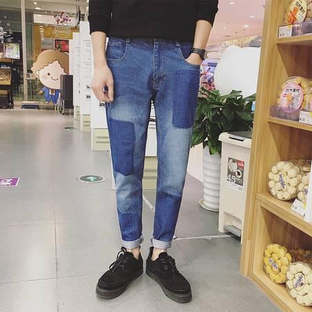 杰士2016年春装新款水洗牛仔裤复古多口袋牛仔长裤C0132