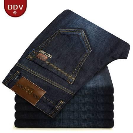 D秋冬男士牛仔裤男商务修身直筒宽松加厚 男式牛仔裤2012