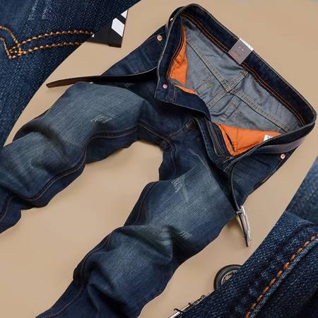 D春款男式牛仔裤 韩版修身弹力男装牛仔裤直筒潮男士牛仔裤667