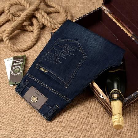 D春季男装牛仔裤长裤 商务修身直筒弹力男式休闲牛仔裤H668