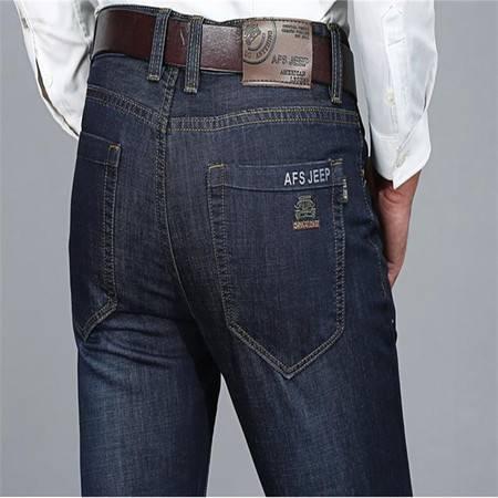 D男式牛仔裤直筒宽松大码牛仔长裤子休闲男裤8036
