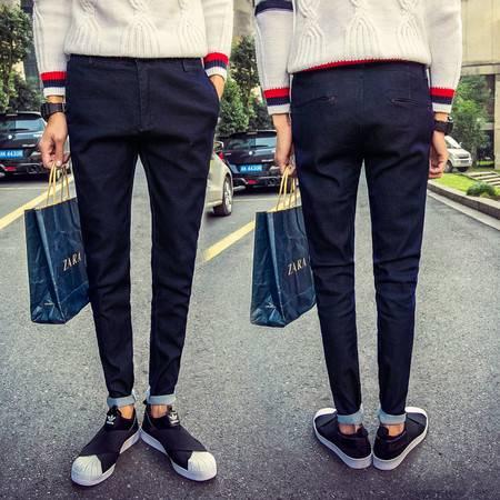 D男士牛仔长裤弹力韩版休闲男式牛仔小脚裤修身男潮N112