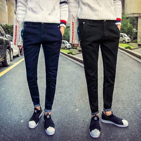 D小脚裤修身弹力男式牛仔裤男长裤韩版时尚秋冬新款牛仔裤K547