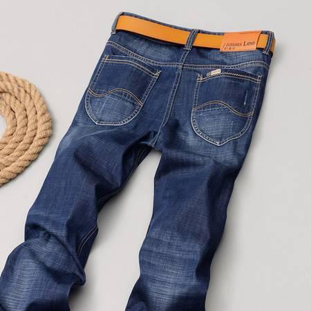 D2016男装春夏新款韩版洗水牛仔裤直筒男式牛仔裤长裤2083