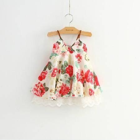 贝贝2016夏装新款女童公主吊带裙女宝宝连衣裙H5298