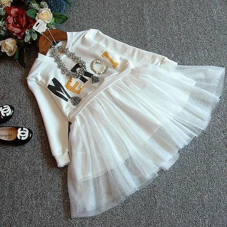 贝贝春装新款韩版女童打底字母珍珠长袖连衣裙H0532-38235