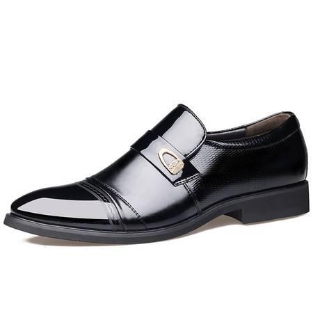 俊斯特秋季爆款男士商务正装尖头皮鞋男时尚单鞋男鞋